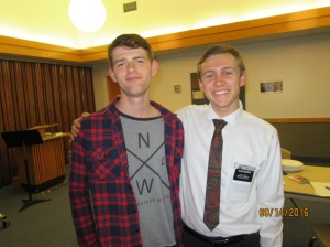 Jasper, 19, incredible life story and getting baptized this Saturday, which I won't be able to go to now that I'm here in Miramichi ;(